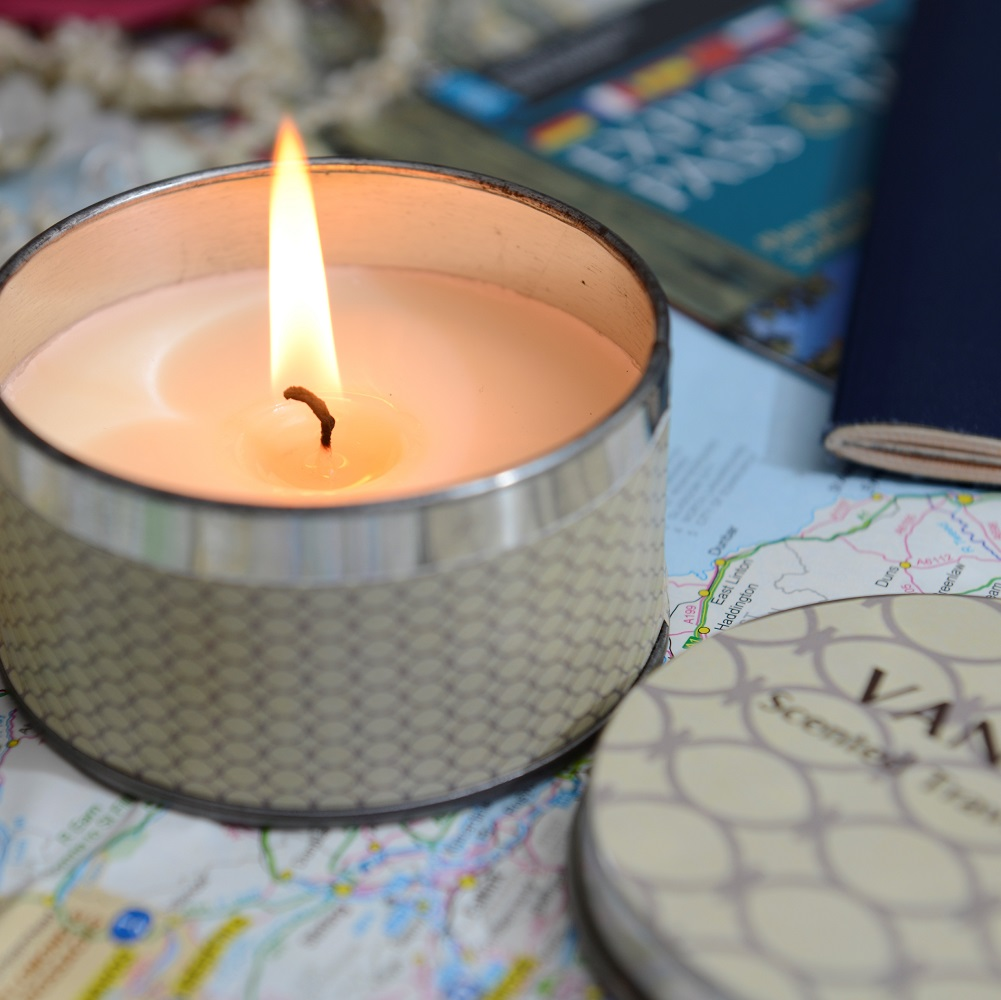 candles, soy wax, eco, travel