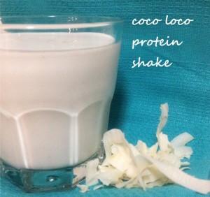 protein shake, protein powder, coconut cream