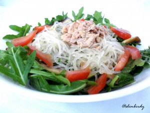 healthy, lemon, salad, kelp noodles, weight loss